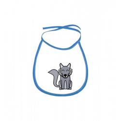Obrázek Dětský bryndák Tučňák a jeho kamarádi - #8 vlk obecný - modrý