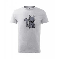 Obrázek Dětské Tričko Classic New - Tučňák a jeho kamarádi - #8 vlk obecný, vel. 6 let - šedý melír