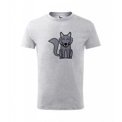 Obrázek Dětské Tričko Classic New - Tučňák a jeho kamarádi - #8 vlk obecný, vel. 6 let , šedý melír