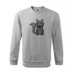 Obrázek Mikina Essential - Tučňák a jeho kamarádi - #8 vlk obecný, vel. 12 let - šedý melír
