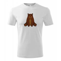 Obrázek Pánské Tričko Classic New - Tučňák a jeho kamarádi - #9 medvěd hnědý, vel. S - bílá