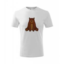 Obrázek Dětské Tričko Classic New - Tučňák a jeho kamarádi - #9 medvěd hnědý, vel. 6 let , bílá
