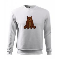 Obrázek Mikina Essential - Tučňák a jeho kamarádi - #9 medvěd hnědý, vel. 12 let - bílá
