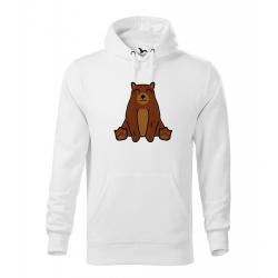 Obrázek Pánská Mikina Cape - Tučňák a jeho kamarádi - #9 medvěd hnědý, vel. M - bílá