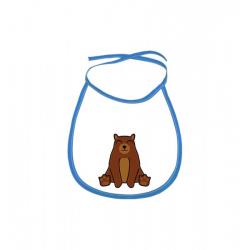 Obrázek Dětský bryndák Tučňák a jeho kamarádi - #9 medvěd hnědý - modrý