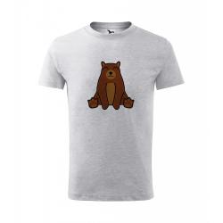 Obrázek Dětské Tričko Classic New - Tučňák a jeho kamarádi - #9 medvěd hnědý, vel. 6 let , šedý melír