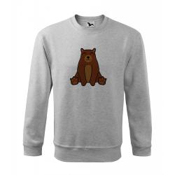 Obrázek Mikina Essential - Tučňák a jeho kamarádi - #9 medvěd hnědý, vel. 12 let - šedý melír