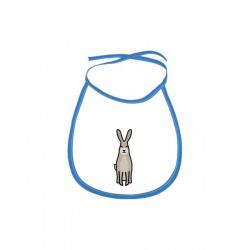 Obrázek Dětský bryndák Tučňák a jeho kamarádi - #10 zajíc polní - modrý