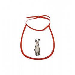 Obrázek Dětský bryndák Tučňák a jeho kamarádi - #10 zajíc polní - červený