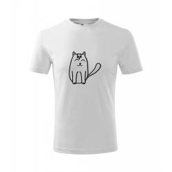 Obrázek Dětské Tričko Classic New - Tučňák a jeho kamarádi - #11 kočka domácí, vel. 6 let - bílá
