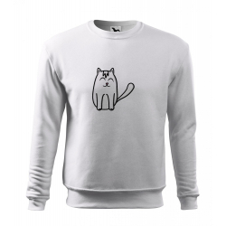 Obrázek Mikina Essential - Tučňák a jeho kamarádi - #11 kočka domácí, vel. 12 let - bílá