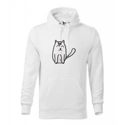 Obrázek Pánská Mikina Cape - Tučňák a jeho kamarádi - #11 kočka domácí, vel. M - bílá