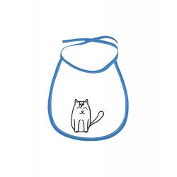 Obrázek Dětský bryndák Tučňák a jeho kamarádi - #11 kočka domácí - modrý