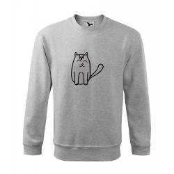 Obrázek Mikina Essential - Tučňák a jeho kamarádi - #11 kočka domácí, vel. 12 let - šedý melír