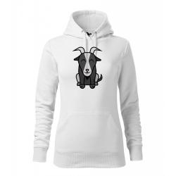 Obrázek Dámská Mikina Cape - Tučňák a jeho kamarádi - #12 koza bezoárová, vel. M , bílá