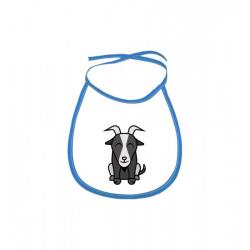 Obrázek Dětský bryndák Tučňák a jeho kamarádi - #12 koza bezoárová - modrý