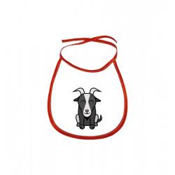 Obrázek Dětský bryndák Tučňák a jeho kamarádi - #12 koza bezoárová - červený