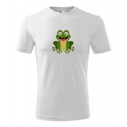 Obrázek Pánské Tričko Classic New - Veselá zvířátka - Žabička, vel. S , bílá
