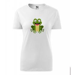 Obrázek Dámské Tričko Classic New - Veselá zvířátka - Žabička, vel. S , bílá