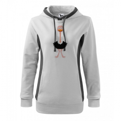 Obrázek Mikina Kangaroo - Veselá zvířátka - Pštros, vel. M , bílá