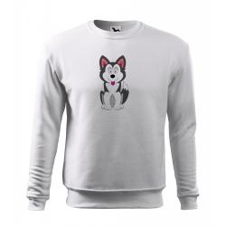 Obrázek Mikina Essential - Veselá zvířátka - Husky, vel. 12 let - bílá