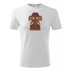 Obrázek Pánské Tričko Classic New - Veselá zvířátka - Mamut, vel. S , bílá