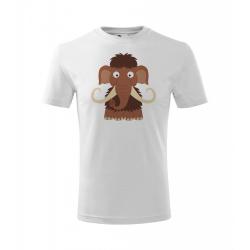 Obrázek Dětské Tričko Classic New - Veselá zvířátka - Mamut, vel. 10 let , bílá