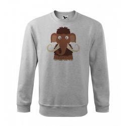 Obrázek Mikina Essential - Veselá zvířátka - Mamut, vel. 12 let - šedý melír