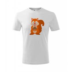 Obrázek Dětské Tričko Classic New - Veselá zvířátka - Veverka, vel. 6 let - bílá