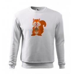 Obrázek Mikina Essential - Veselá zvířátka - Veverka, vel. 12 let - bílá