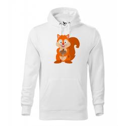 Obrázek Pánská Mikina Cape - Veselá zvířátka - Veverka, vel. M , bílá