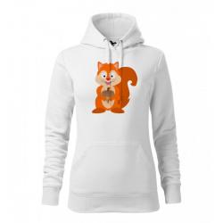 Obrázek Dámská Mikina Cape - Veselá zvířátka - Veverka, vel. M , bílá