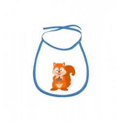 Obrázek Dětský bryndák Veselá zvířátka - Veverka - modrý