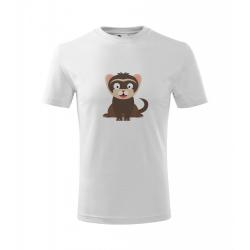 Obrázek Dětské Tričko Classic New - Veselá zvířátka - Fretka, vel. 6 let , bílá