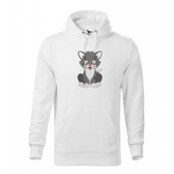 Obrázek Pánská Mikina Cape - Veselá zvířátka - Kocourek, vel. M - bílá