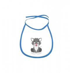 Obrázek Dětský bryndák Veselá zvířátka - Kocourek - modrý