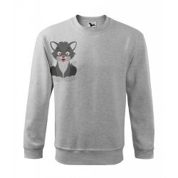 Obrázek Mikina Essential - Veselá zvířátka - Kocourek, vel. 12 let - šedý melír