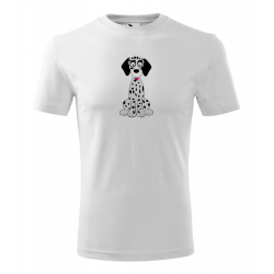 Obrázek Pánské Tričko Classic New - Veselá zvířátka - Dalmatin, vel. S - bílá