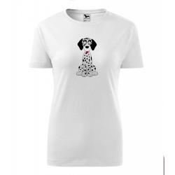 Obrázek Dámské Tričko Classic New - Veselá zvířátka - Dalmatin, vel. S - bílá