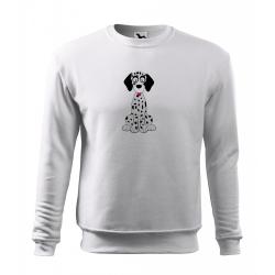 Obrázek Mikina Essential - Veselá zvířátka - Dalmatin, vel. 12 let - bílá