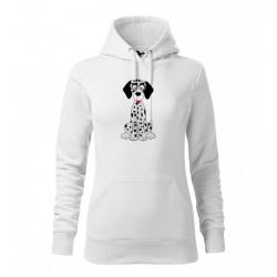 Obrázek Dámská Mikina Cape - Veselá zvířátka - Dalmatin, vel. M , bílá