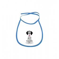 Obrázek Dětský bryndák Veselá zvířátka - Dalmatin - modrý