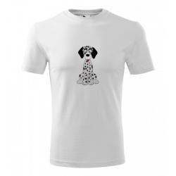 Obrázek Pánské Tričko Classic New - Veselá zvířátka - Dalmatin, vel. S - šedý melír