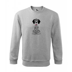 Obrázek Mikina Essential - Veselá zvířátka - Dalmatin, vel. 12 let - šedý melír