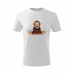 Obrázek Dětské Tričko Classic New - Veselá zvířátka - Šimpanz, vel. 6 let - bílá
