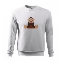 Obrázek Mikina Essential - Veselá zvířátka - Šimpanz, vel. 12 let - bílá