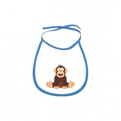 Obrázek Dětský bryndák Veselá zvířátka - Šimpanz - modrý