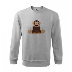 Obrázek Mikina Essential - Veselá zvířátka - Šimpanz, vel. 12 let - šedý melír