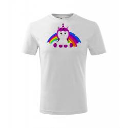 Obrázek Dětské Tričko Classic New - Veselá zvířátka - Jednorožec, vel. 6 let , bílá