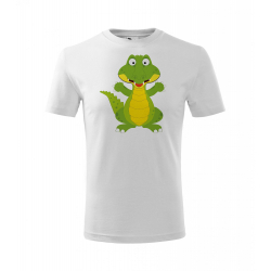 Obrázek Dětské Tričko Classic New - Veselá zvířátka - Krokodýl, vel. 6 let - bílá